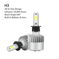 2P H3 All-in-One LED Lámpara Faro Kit 72W 8000LM COB Bulbo 6000K Blanco BS6 A