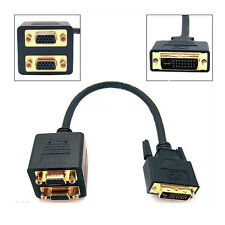 Splitter Cable Adapter DVI to Dual VGA