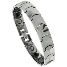 Tungsten Carbide Magnetic Bracelet w/ Freeform Facets