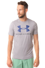 UNDER ARMOUR T-Shirt Top Size M HEATGEAR Coated Logo Crew Neck Loose Fit