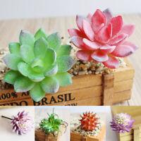 Artificial Succulent Plants Small Faux Flocking Echeveria Indoor & Outdoor Decor