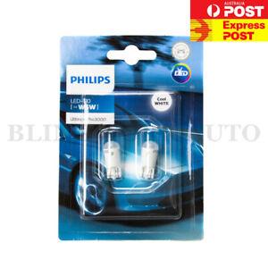 PHILIPS T10 W5W LED Ultinon Pro3000 6000K White Light Bulbs Globes
