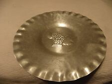 Large decorative aluminum tray or plate