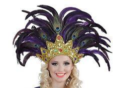 Bahia PLUME CABARET mardi gras Showgirl BURLESQUE ROBE FANTAISIE COIFFURE INDIENNE