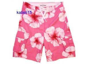 Abercrombie & Fitch Kid's Rocky Falls Swim Shorts Pink Board Surf XL
