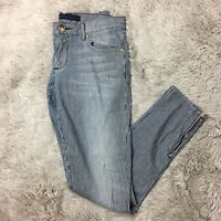 Juicy Jeans Couture Sz 26 Striped Skinny Jeans Ankle Zippers