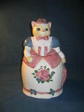 "Vtg KITTY CAT COOKIE JAR CANISTER by ""The Cooks Bazaar""...Never Used...Darling!"