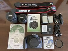 Canon EOS Rebel T5i DSLR Camera 700d 18-55mm And 50mm Lens With Extras