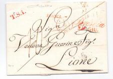 Prefilatelica prephilatelic 1843 da Venezia per Lione