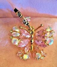 NWT JUICY COUTURE JEWELED PINK BUTTERFLY CHARM YJRU2729