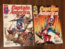 Captain America #37 (2001, Marvel) FINE & #28 * NICK FURY BY JURGENS, 2 BOOK LOT