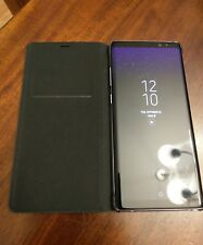 Samsung Galaxy Note 8 OEM Leather Flip Case Cover Black USA SELLER Card Slot