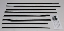 1959-1960 Cadillac Convertible Repops Window Felt Weatherstrip Kit 8pc Fuzzies