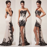 Stunning Women's High-Low Bridesmaid Evening Formal Party Ball Gown Prom Dresses