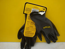 10 X PAIRS OF DEWALT BLACK & GREY NITRILE NYLON WORK GLOVES LARGE DPG66L