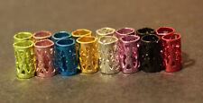 30 Mini Mixed Dreadlock Hair Beads Cuffs 4mm (5/32 Inch) + FREE Dread Ring