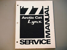 1977 Vintage Arctic Cat Lynx Service Manual