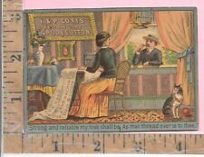 """J & P COATS THREAD SEWING MACHINE """"IN THE WORK-ROOM"""" CAT  VICT ADV TRADE CARDS"""