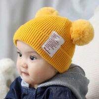 Winter Kids Baby Boy&Girl Hat Bear Toddler Earflap Beanie Crochet Knit Cap Hats