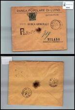 SP06545 Regno Umberto I Sass. 46 Banca popolare da Luino a Milano Raccomandate