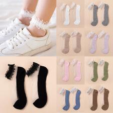 Mädchen Spitze Dünn Transparent Söckchen Prinzessin Lolita Kurz Socken