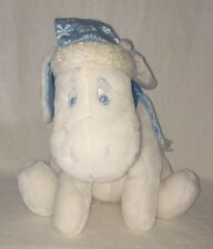 "Eeyore Snowflake White Blue Plush Disney Store 12"" Stuffed Toy Winnie The Pooh"