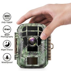 Campark Mini Hunting Trail Camera Wildlife 16MP 1080P Scouting Cam Night Vision