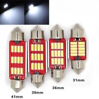 Lamparas LED C5W C10W 2/4/6 12SMD interior  maletero blanco frio Canbus