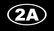 2A 2nd Amendment Oval CAR TRUCK Window Laptop DECAL Sticker WHITE die cut