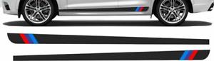 """M sport"" Side Stripes kit for BMW X3 2Pcs. Vinyl Sticker Window Laptop graphics"