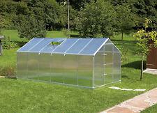 Gutta Aluminium Gewächshaus 10,17 m² Typ F6 mit 6 mm Polycarbonat Stegplatten