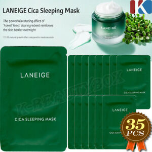 LANEIGE Cica Sleeping Mask 140ml(=4ml*35pcs) Overnight Cream Moisture Night Mask