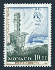Monaco C66,hinged.Michel 809. ITU Centenary,1965.Monte Carlo telestation.