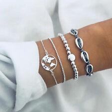 Set de 4 bracelets Léa sur le thème de la mer et des coquillages