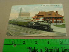 K & M train railroad depot Charleston WV Kanawha 1913 vtg Postcard West Virginia