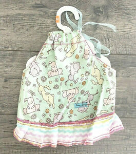 Furrever Doggies Dog Dress Size Medium Easter Rabbit Green with Hanger Clothes