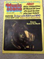 Music Scene magazine January 1974 Genesis Bowie Quo Elton Who Wings Roxy Music