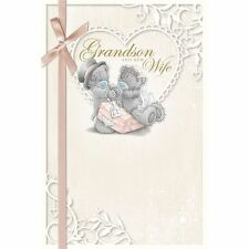 Me to You Grandson & New Wife On Wedding Day Card - Tatty Teddy Bear