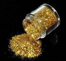 Nail Art Holographic Glitter Laser Shining Powder - Gold 10 mL - 12743