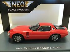 Neo Scale Models 1/43 Alfa Romeo Canguro Bertone 1964 Red Art. Neo43170