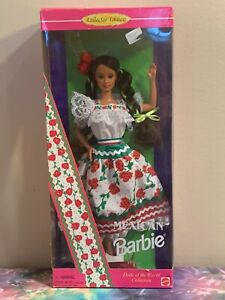 NIB Collector Edition Dolls of the World Mexican Barbie Doll - 1995 Mattel 14449