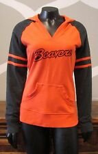 COLUMBIA Oregon State University Cotton Blend V Neck Athletic Hoodie - Small