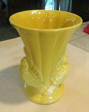 "Vintage Yellow Dove Vase USA 9"""
