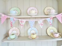 Designer Fabric Bunting Vintage Home Office Decorations Gorgeous Mini Bunting