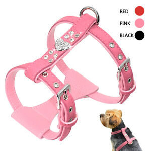 Padded Suede Leather Pet Puppy Dog Harness Vest Soft for Small Medium Dog Yorkie