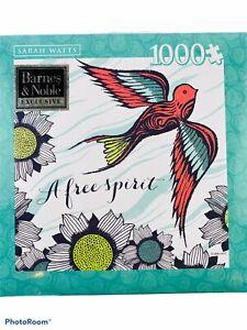 A FREE SPIRIT JIGSAW PUZZLE SARAH WATTS 1000 PIECE BIRD IN FLIGHT ANDREWS BLAINE