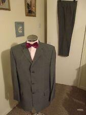 """DANIEL HECHTER Men's Grey Two-Piece Suit C42"""" Long W34"""" L30"""" Classic Fit W/Blend"""