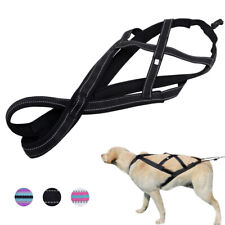 Reflective Dog Nylon Weight Pulling Harness Large Dogs Padded Training Vest L XL