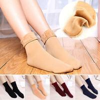 Warm Women Socks Thicken Thermal Snow Winter Solid Velvet Boots Floor Socks