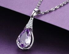 14 Zirkonia 925 Sterling Silber Anhänger Edelstein Halskette Silberkette Kette